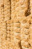 Fond frais de balles de foin de paille Photo libre de droits