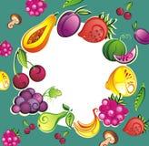 Fond frais de fruits et légumes illustration libre de droits