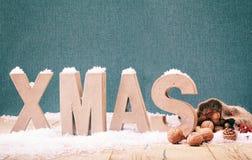 Fond frais de Noël d'hiver Images stock