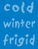 Fond froid de l'hiver Images libres de droits