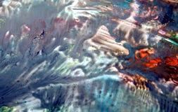 Fond fumeux blanc bleu vif coloré, fond de peinture d'aquarelle, couleurs abstraites de peinture images stock