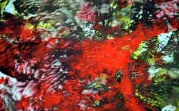 Fond fumeux vert rouge vif coloré, fond de peinture d'aquarelle, couleurs abstraites de peinture photos libres de droits
