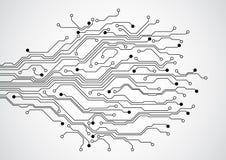 Fond futuriste abstrait de concept de carte de technologie, illustration de vecteur Image stock