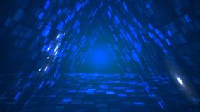 Fond futuriste abstrait de perspective de tunnel de données de triangle illustration stock