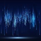 Fond futuriste abstrait de technologie de Matrix de la science fiction Photos libres de droits
