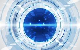 Fond futuriste abstrait de technologie num?rique vecteur d'illustration