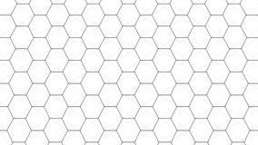 Fond futuriste blanc abstrait Fond avec des hexagones Points et lignes se reliants sur le fond blanc illustration libre de droits