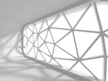 Fond futuriste blanc abstrait de conception d'architecture Photo stock