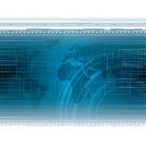 Fond futuriste bleu abstrait de technologie illustration stock