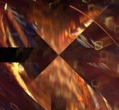 Fond futuriste brun clair magique de fractale abstraite Photos libres de droits