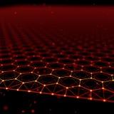 Fond futuriste d'abrégé sur modèle d'hexagone l'illustration 3d rendent Surface de l'espace Contexte foncé de la science fiction  Illustration Libre de Droits
