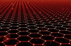 Fond futuriste d'abrégé sur modèle d'hexagone l'illustration 3d rendent Surface de l'espace Contexte foncé de la science fiction  Illustration Stock