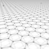 Fond futuriste d'abrégé sur modèle d'hexagone l'illustration 3d rendent Surface de l'espace Contexte léger de la science fiction  Illustration Stock