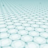 Fond futuriste d'abrégé sur modèle d'hexagone l'illustration 3d rendent Surface de l'espace Contexte léger de la science fiction  Illustration de Vecteur