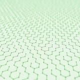 Fond futuriste d'abrégé sur modèle d'hexagone l'illustration 3d rendent Surface de l'espace Contexte léger de la science fiction  Illustration Libre de Droits