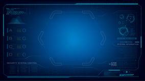 Fond futuriste d'abrégé sur technologie de Cyber avec pointillé Photos libres de droits