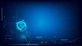 Fond futuriste d'abrégé sur technologie de Cyber avec pointillé Image stock