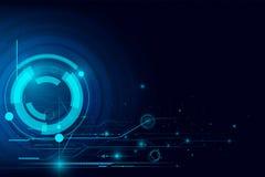 Fond futuriste d'abrégé sur technologie de Cyber avec pointillé Images stock
