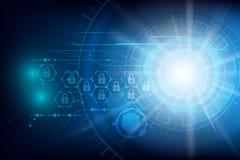 Fond futuriste d'abrégé sur technologie de Cyber de protection des données Images libres de droits
