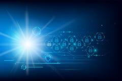 Fond futuriste d'abrégé sur technologie de Cyber de protection des données Photo libre de droits