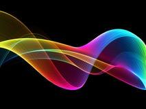 Fond futuriste d'onde lumineuse abstraite d'arc-en-ciel illustration de vecteur