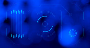 Fond futuriste de bleu d'écran de HUD d'hologramme Photographie stock libre de droits