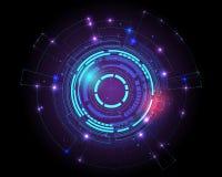 Fond futuriste de concept de modèle de technologie du sci fi, illustration stock