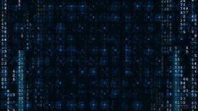Fond futuriste de pointe bleu de Digital banque de vidéos