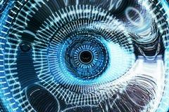 Fond futuriste de vision d'oeil Images libres de droits