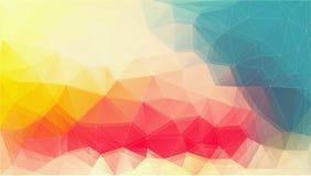 Fond futuriste plat de triangle illustration stock