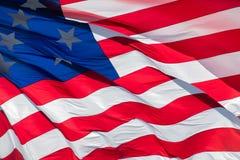 Fond géant de bannière étoilée de drapeau américain des Etats-Unis Images stock