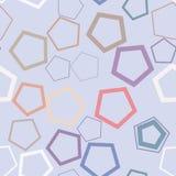 Fond génératif d'art couleur d'abrégé sur de modèle géométrique sans couture de pentagone Texture, illustration, papier peint et  illustration libre de droits