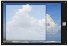 Fond générique de la tablette W de garniture images libres de droits