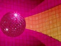 Fond génial de bille rose de disco Image libre de droits