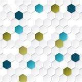 Fond géométrique abstrait avec des hexagones illustration libre de droits