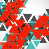 Fond géométrique abstrait avec des triangles Photos libres de droits