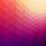 Fond géométrique abstrait coloré de vecteur Photo stock