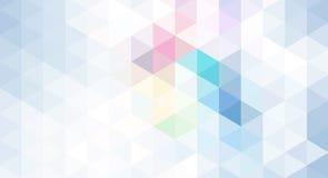 Fond géométrique abstrait dans la couleur bleue Photo libre de droits