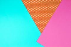 Fond géométrique abstrait de papier coloré Image libre de droits