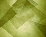 Fond géométrique abstrait de vert olive avec des couches de cercles ronds avec la conception affligée de texture illustration de vecteur