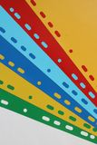Fond géométrique abstrait des séparateurs colorés de feuille, feuilles de papier, carton photographie stock