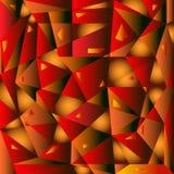 Fond géométrique abstrait jaune-rouge Photo libre de droits