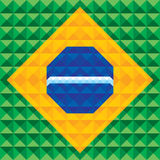 Fond géométrique abstrait - modèle sans couture de vecteur - concept d'illustration sur la base du drapeau du Brésil Images libres de droits