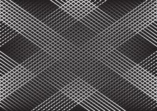 Fond géométrique abstrait monochrome avec des lignes, modèle à carreaux Vecteur illustration de vecteur