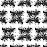 Fond géométrique abstrait noir et blanc Images stock