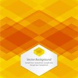 Fond géométrique abstrait orange Photographie stock libre de droits