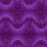 Fond géométrique abstrait pourpre foncé avec des lignes de mélange Modèle sans couture ultra-violet avec des vagues illustration de vecteur