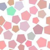 Fond géométrique abstrait sans couture avec la forme du modèle de pentagone Illustration, contexte, vecteur et Web illustration stock