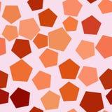 Fond géométrique abstrait sans couture avec la forme du modèle de pentagone Style, malpropre, vecteur et couverture illustration stock