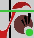 Fond géométrique abstrait, style d'art de cubisme, formes simples et formes Illustration d'un oeil regardant vers le bas, stupéfa illustration libre de droits